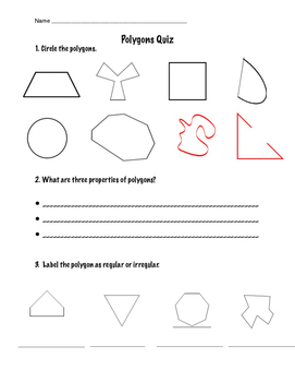 Polygons and Quadrilaterals Assessment