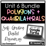 Polygons and Quadrilaterals- Digital Assignment BUNDLE for use with Google