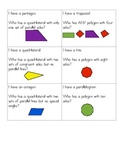Polygons and Quadrilaterals I Have - Who Has Game