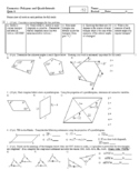 Polygons and Quadrilaterals Quizzes A and B with Answer Key (Editable)