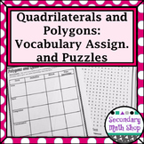 Quadrilaterals - Unit 7: Polygons and Quadrilaterals Vocabulary Assignment