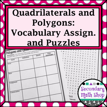 Quadrilaterals - Unit 7: Polygons and... by Secondary Math Shop ...