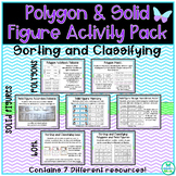 Polygons and Solid Figures Activity Pack - TEKS 3.6A