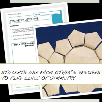 Polygons and Symmetry station activities for 5th and 6th grade math