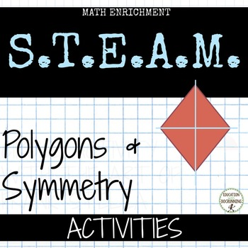 Polygons and Symmetry station activities for 5th 6th grade math UPDATED