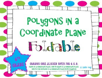Polygons in a Coordinate Plane (Aligned to CCSS 6.G.3)