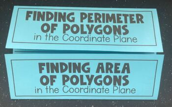 Polygons in the Coordinate Plane (Foldable)