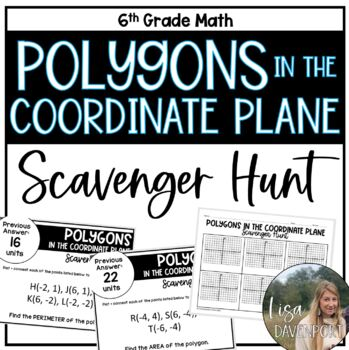 Polygons in the Coordinate Plane (Scavenger Hunt)