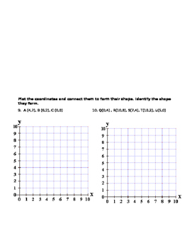 Polygons in the Coordinate Plane Worksheet