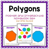 Polygons - posters and graphic organizer INB set