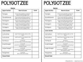 Polygons: Polygotzee Game