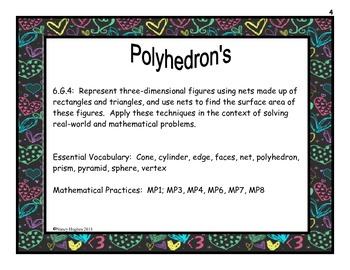 Polyhedrons Grade 6