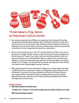 Polynesian Culture Center - Informational Text Test Prep