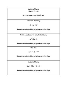Polynomial Applications Relay Race