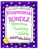 Polynomial Bundle: Operations, Factoring, & Solving