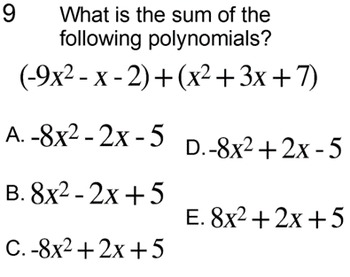 Polynomial Definitions and Operations for PDF