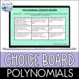 Polynomial Digital Choice Board Activity