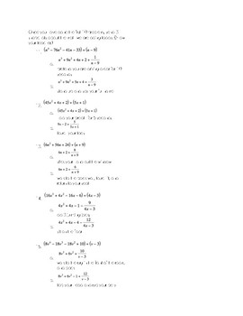Polynomial Division ACTIONS