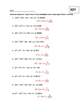 Polynomial Division Christmas or anytime