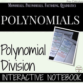 Polynomial Long and Synthetic Division Color-Coded interactive notebook foldable