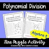 Polynomial Division: Line Puzzle Activity