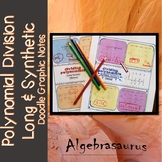 Polynomial Division (Long & Synthetic) Doodle Notes Packet or Graphic Organizer
