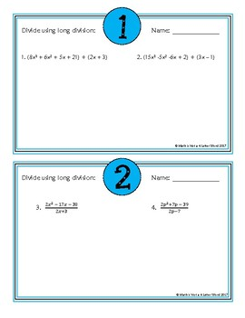 Polynomial Division: Rock, Paper, Scissors
