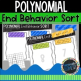 Polynomial End Behavior Sort; Algebra 2