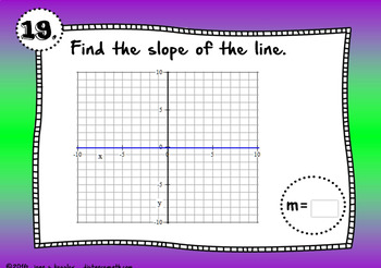 Algebra Find the Slope from a Graph with BOOM Cards Digital 1:1