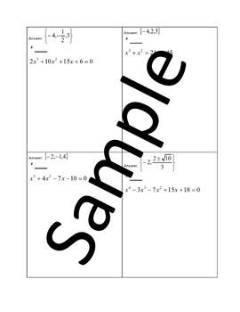 Polynomial Equations – Circuit Training