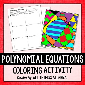 Polynomial Equations Coloring Activity
