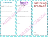 Polynomial Factoring Review Brochure