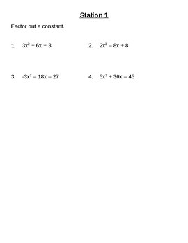 Polynomial Factoring Stations