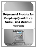 Polynomial Flash Cards - Quadratics, Cubics, and Quartics