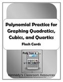 Polynomial Flash Cards - Quadratics, Cubics, and Quartics