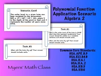 Polynomial Function Application - Algebra 2 Level