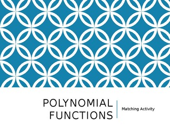 Polynomial Function Matching Activity