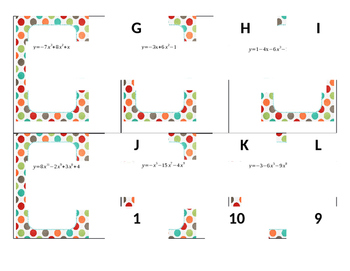 Polynomial Function Matching game