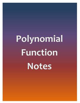 Polynomial Function Notes Organizer