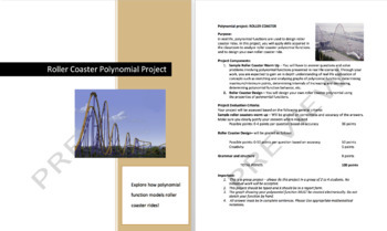 Polynomial Function Project - Roller Coaster