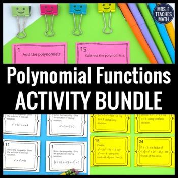 Polynomial Functions Activity Bundle