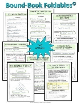 Polynomial Functions and Equations Bundle