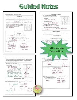 Algebra 2: Polynomial Functions and Equations Bundle