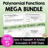 Polynomial Functions MEGA Bundle (Algebra 2 - Unit 5)