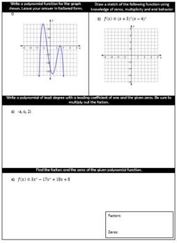 Polynomial Functions - Algebra 2 Unit 3