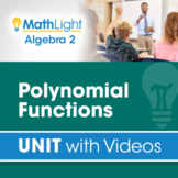 Polynomial Functions   Algebra 2 Unit with Videos + Activity!