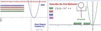 Polynomial Functions End Behavior - GSP Check for Understanding