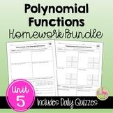 Polynomials Homework (Algebra 2 - Unit 5)