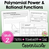 Polynomial Functions Essentials with Video Lessons (Unit 2)