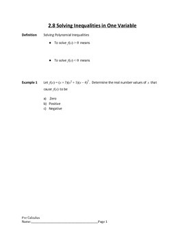 Polynomial Functions Lesson 7 of 7